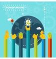 Creative world crowd funding concept design vector