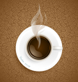 Coffee with coffee beans background vector