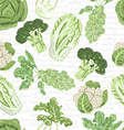 Seamless pattern with different varieties of vector