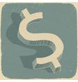 Retro dollar sign vector