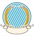 Oktoberfest label bavaria flag background with vector