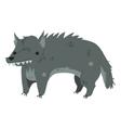 Funny cartoon wolf mascot vector