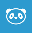 Panda icon white on the blue background vector