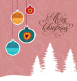Greeting xmas card vector