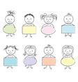 Kids bubbles in hands chalky vector