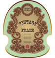 Original hand draw ornate floral vintage label vector