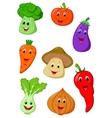 Cute vegetable cartoon vector