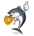 The loudspeaker is to promote to the tuna vector