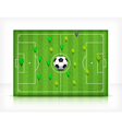 Green playing field 10 v vector
