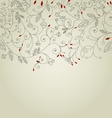 Cute floral background or invitation card vector