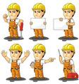 Industrial construction worker mascot vector