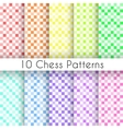 Chess plaid seamless patterns endless texture vector