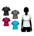 T-shirts female set vector