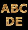 Gold letters set a-e vector