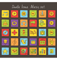 Music colored doodle icons vector
