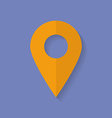 Icon of map pointer flat style vector