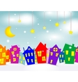 Cartoon winter city vector