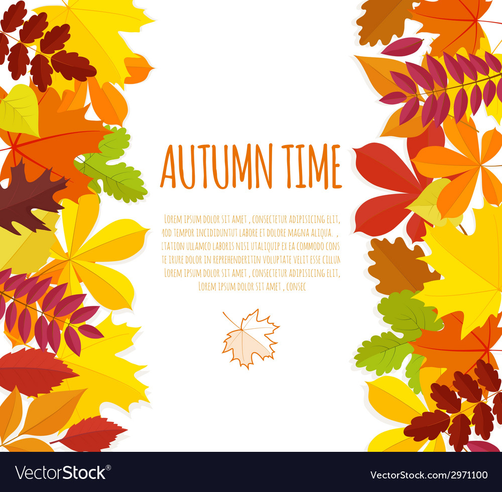 Banner with autumn foliage vector | Price: 1 Credit (USD $1)