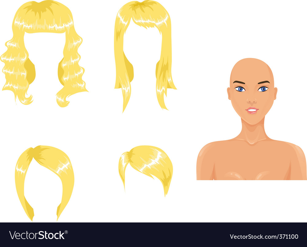 Blond hair vector | Price: 1 Credit (USD $1)