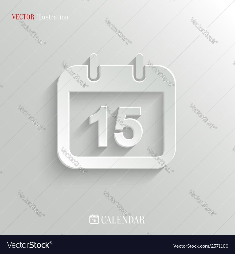 Calendar icon - web background vector | Price: 1 Credit (USD $1)
