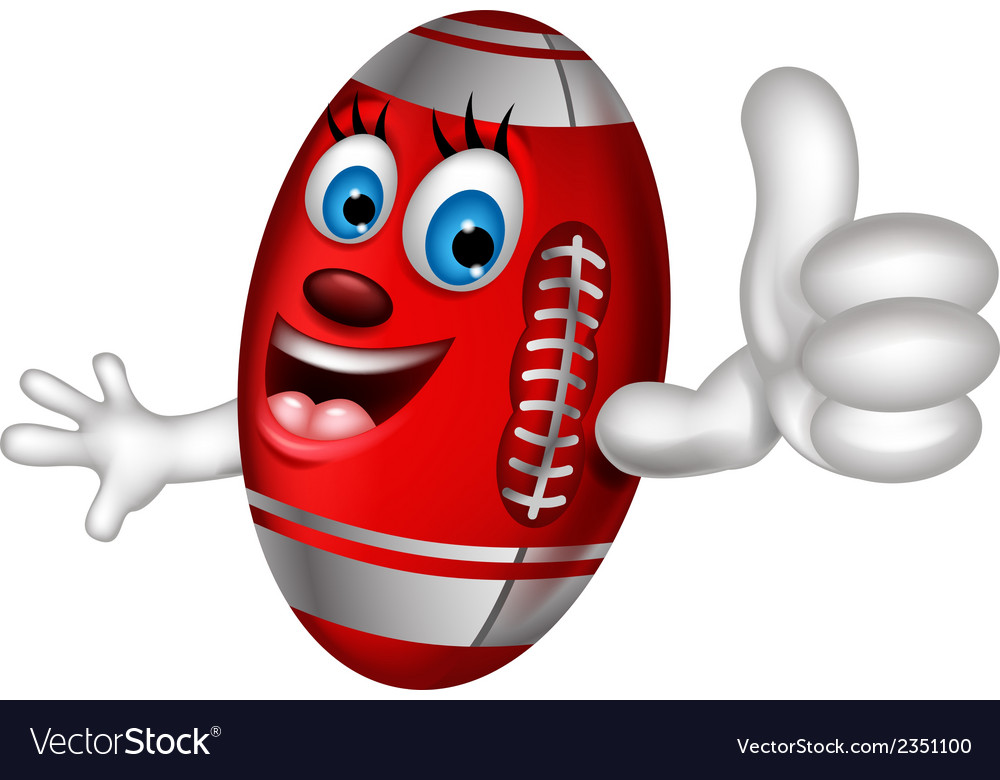 Cartoon american football thumb up vector   Price: 1 Credit (USD $1)