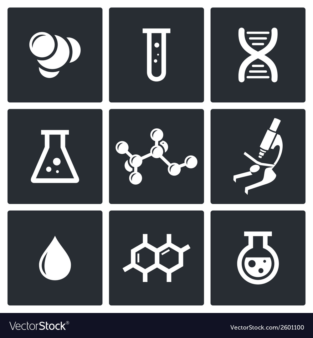 Chemistry icon set vector | Price: 1 Credit (USD $1)
