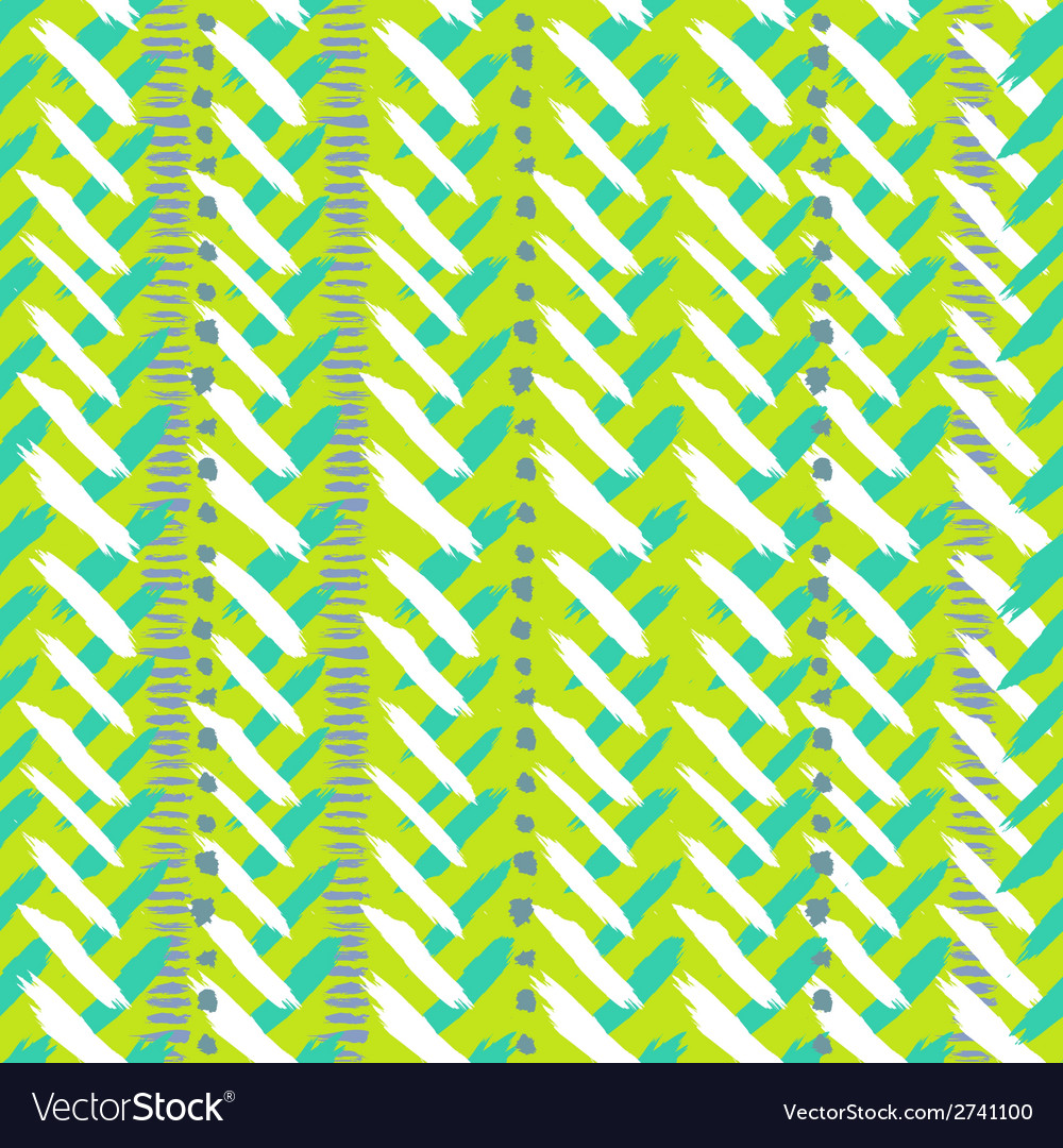 Chevron hand painted seamless pattern vector | Price: 1 Credit (USD $1)