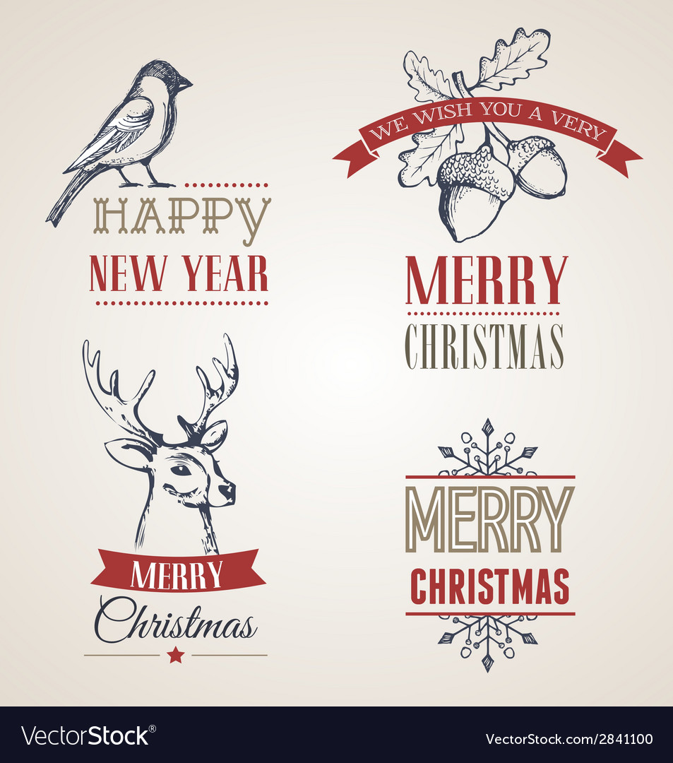 Christmas vintage concept with typography and vector   Price: 1 Credit (USD $1)