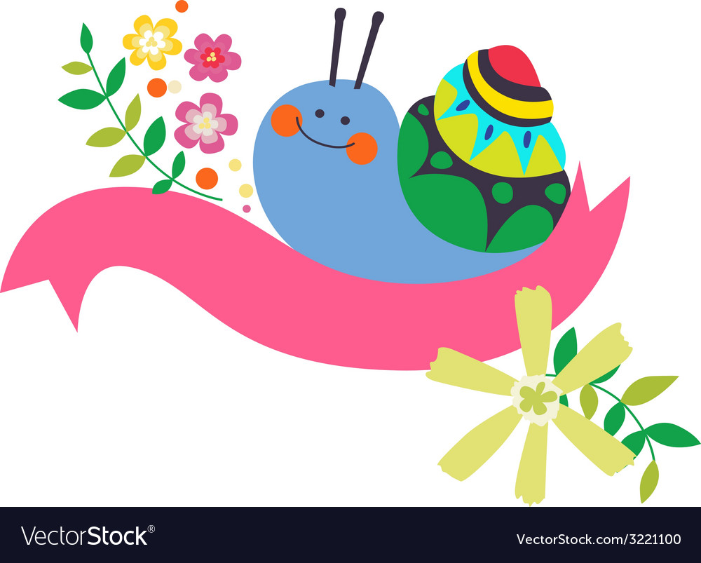Design with lovely snail vector | Price: 1 Credit (USD $1)