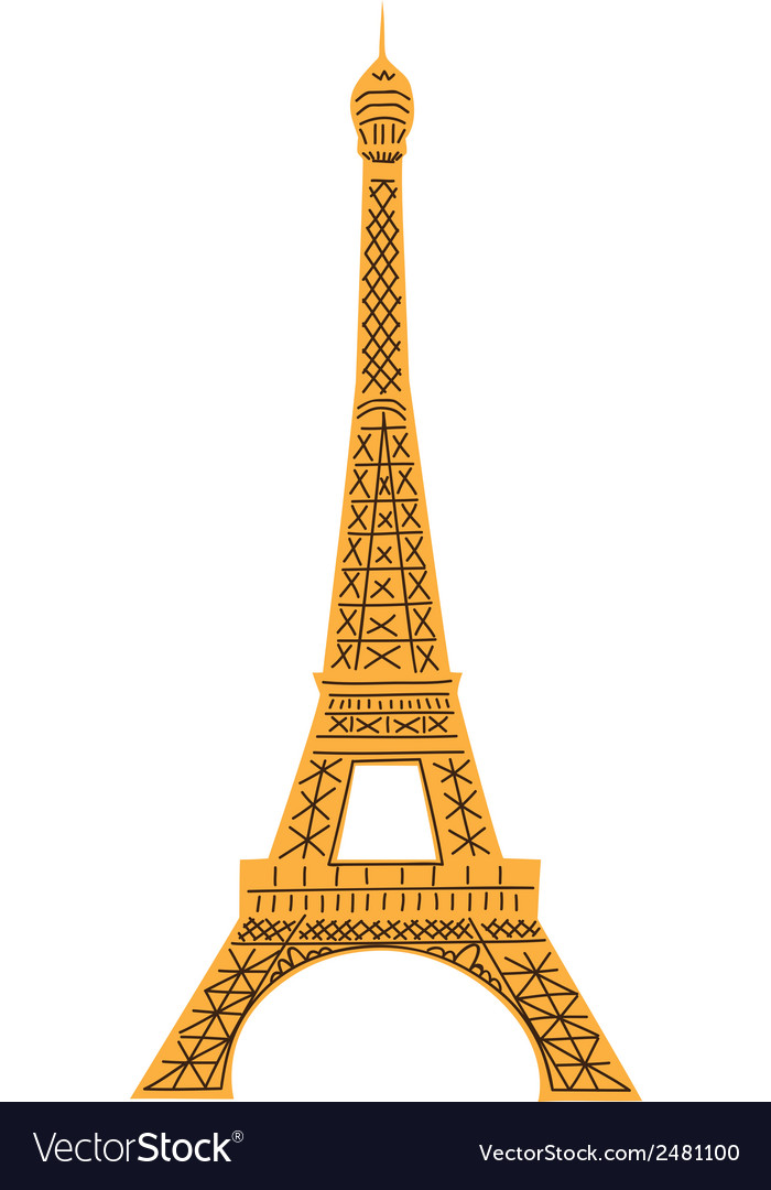Eiffel tower isolated on white vector | Price: 1 Credit (USD $1)