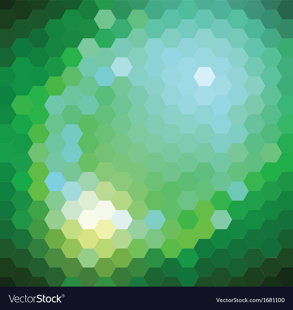Green hexagonal background vector | Price: 1 Credit (USD $1)