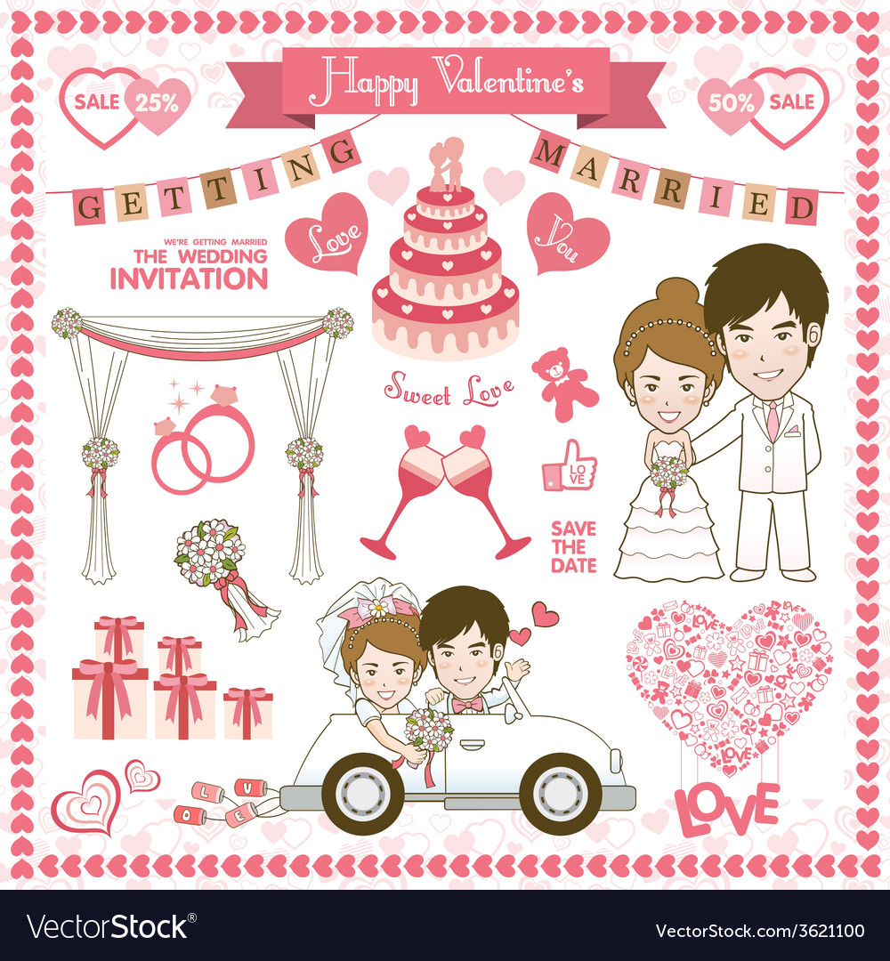 Happy valentine card vector | Price: 1 Credit (USD $1)