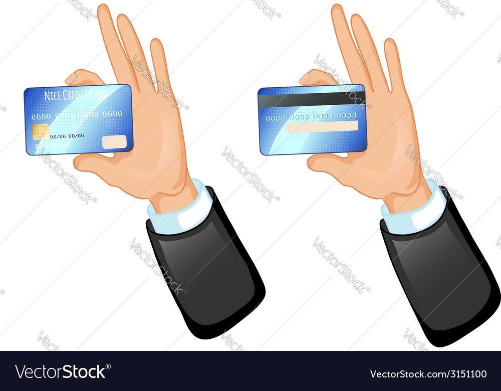 Human hand with a credit card eps10 vector | Price: 1 Credit (USD $1)