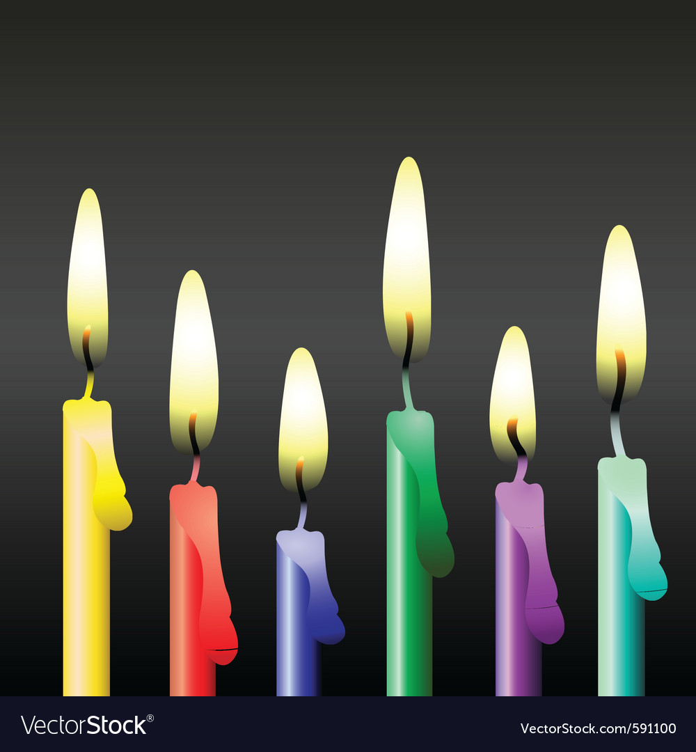 Party candles vector | Price: 1 Credit (USD $1)