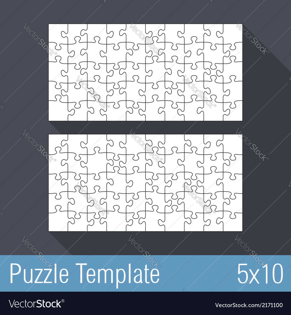 Puzzle template 5x10 vector | Price: 1 Credit (USD $1)