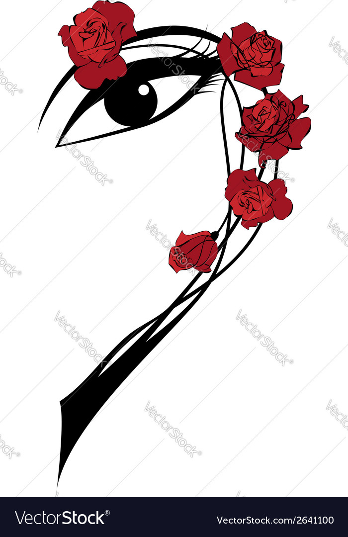 Roses and eye vector | Price: 1 Credit (USD $1)