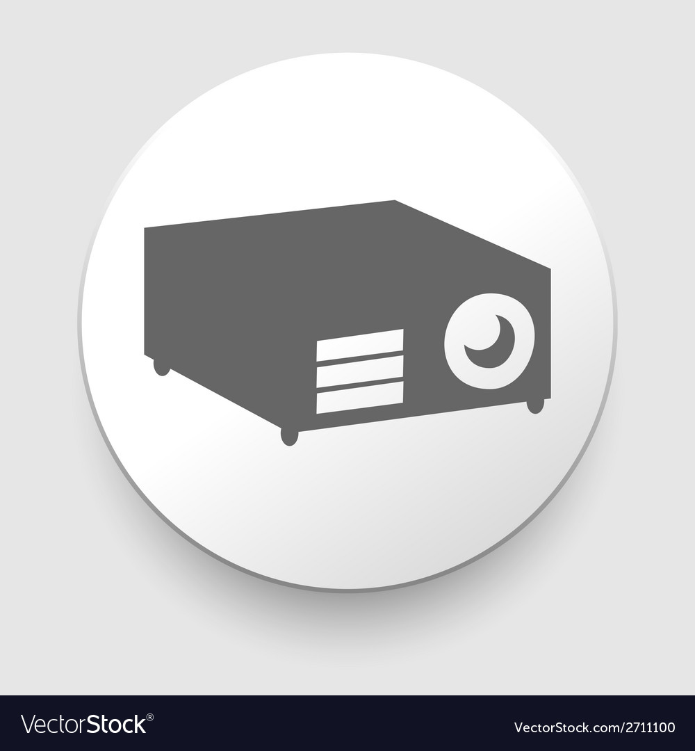 Simple web icon in - projector vector | Price: 1 Credit (USD $1)