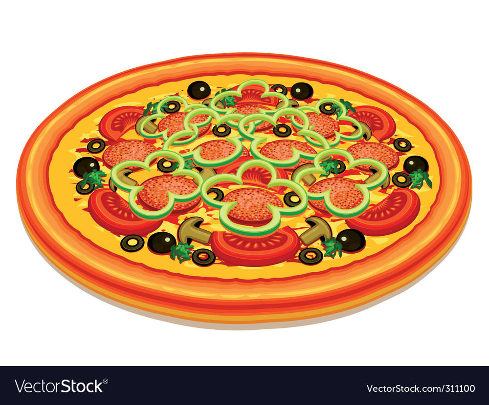 Tasty pizza vector | Price: 3 Credit (USD $3)