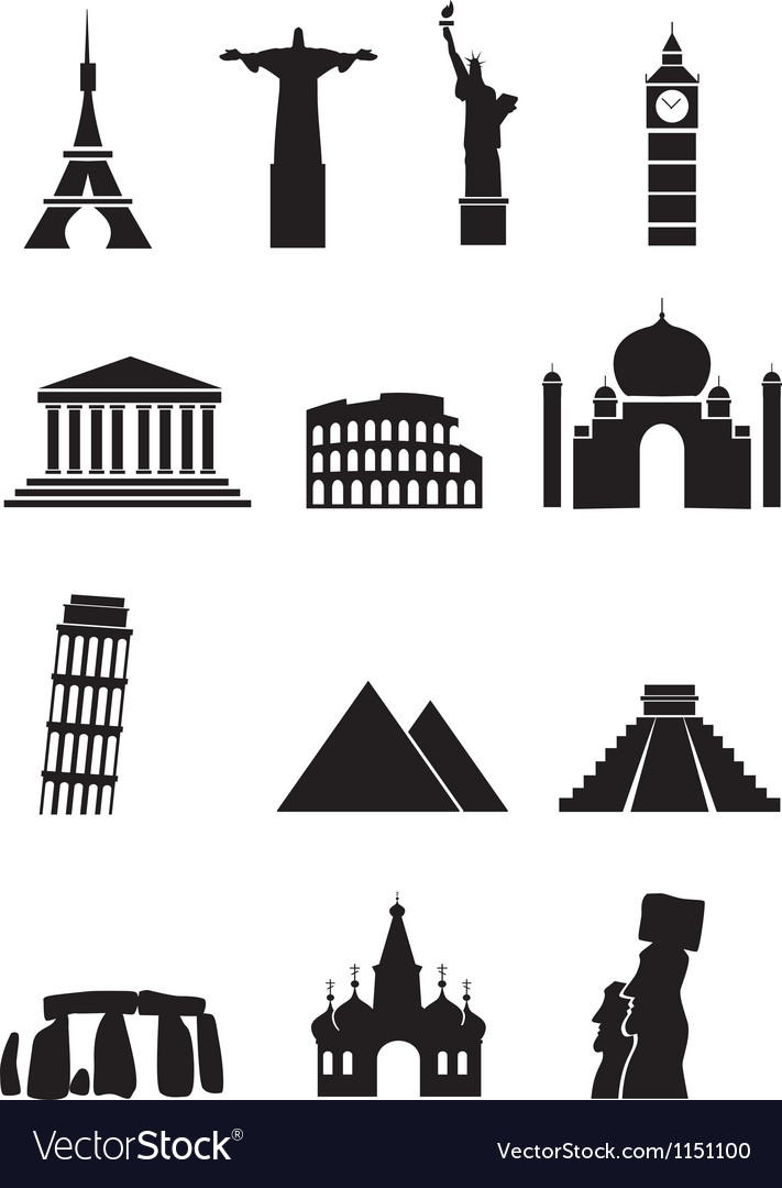 World sights vector | Price: 1 Credit (USD $1)