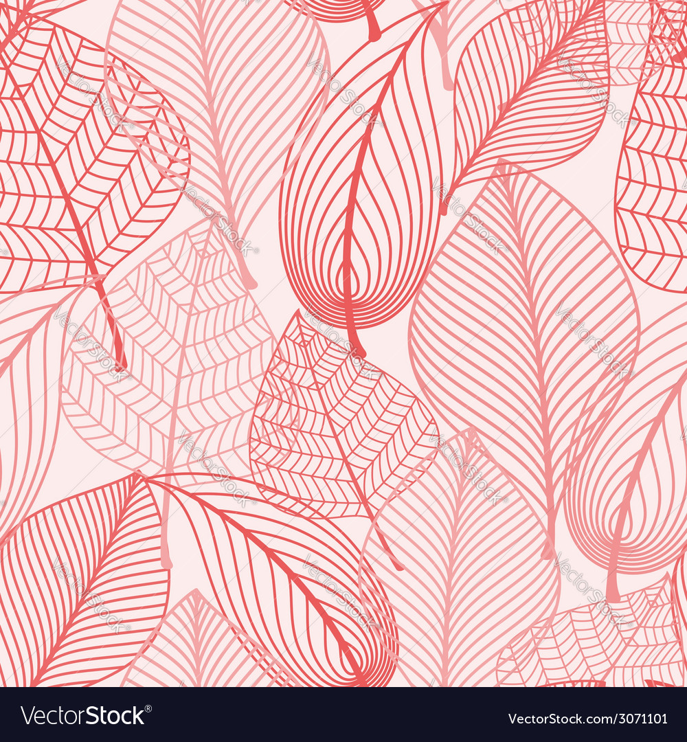 Autumn leaves seamless background pattern vector | Price: 1 Credit (USD $1)
