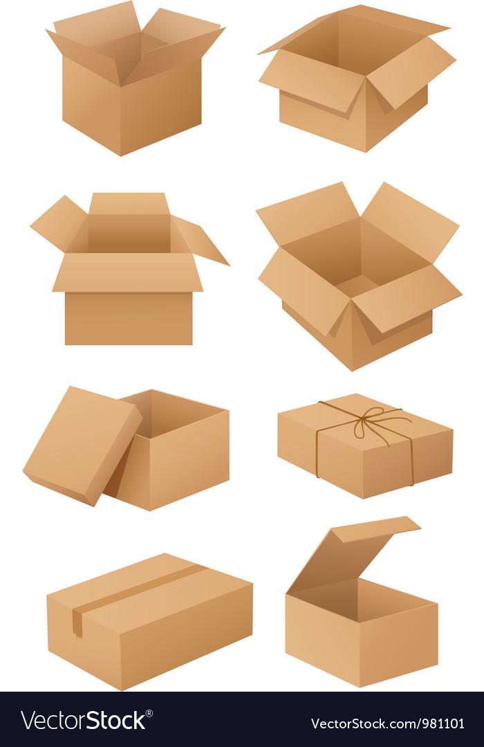 Cardboard boxes vector | Price: 3 Credit (USD $3)