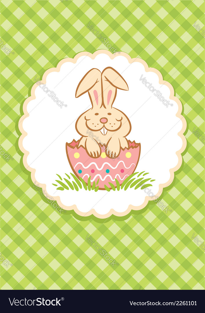 Easter rabbit green vector | Price: 1 Credit (USD $1)