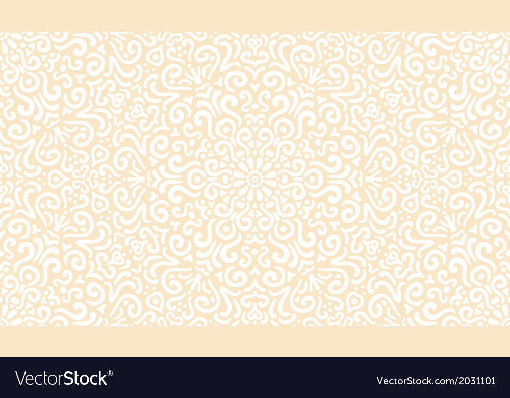 Intricate fantasy white seamless pattern vector | Price: 1 Credit (USD $1)