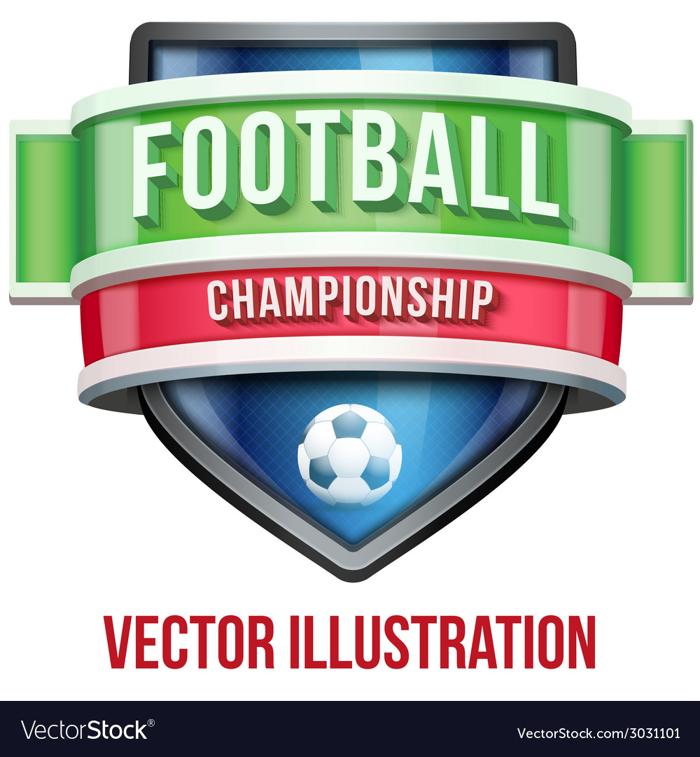 Label for football sport competition bright vector | Price: 1 Credit (USD $1)