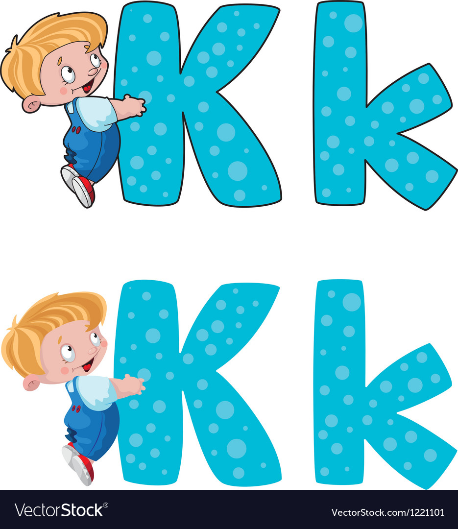 Letter k kid vector | Price: 1 Credit (USD $1)