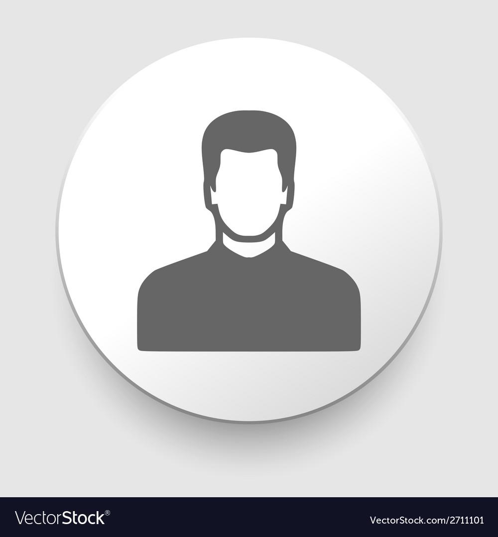 Man icon silhouette vector | Price: 1 Credit (USD $1)