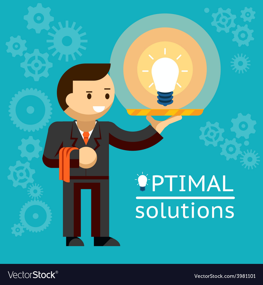 Optimal solutions concept vector | Price: 1 Credit (USD $1)