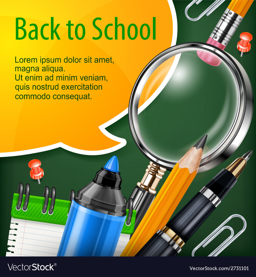 School concept vector | Price: 1 Credit (USD $1)
