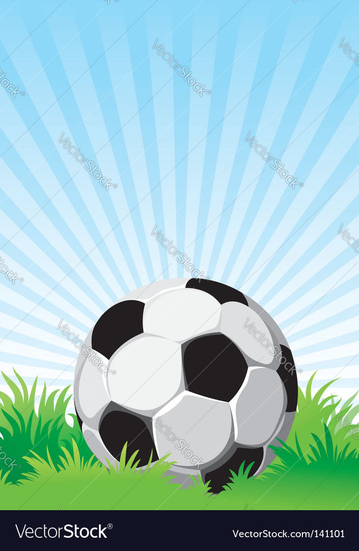 Soccer on the field vector | Price: 1 Credit (USD $1)