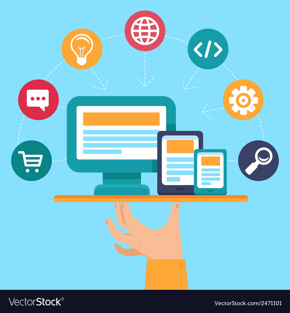 Webdesign and programming service vector   Price: 1 Credit (USD $1)